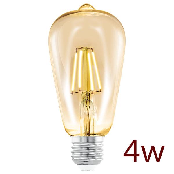 Lampara LED 6w Morrón Vintage Ambar