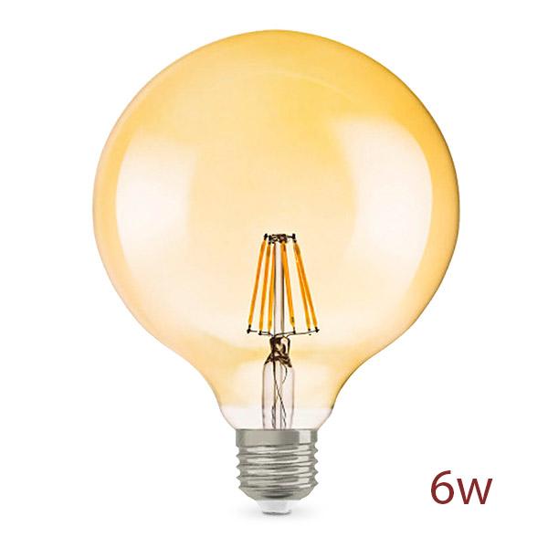 Lampara LED 6w Globo Grande Vintage Ambar