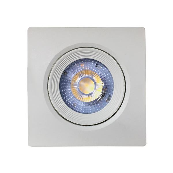 LED Spot Embutir Cuadrado Neutro Blanco 9x9x5cm profund.